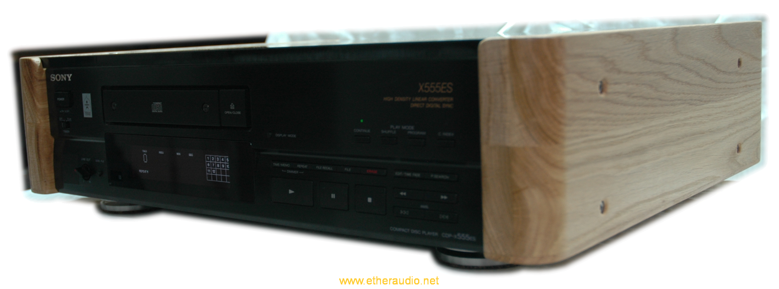 Transformed by Etheraudio Sony CDP-X555ES, that makes all the other CD-players meaningless